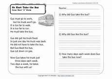 transport comprehension worksheets 15178 he must take the 1st grade reading comprehension worksheet wk 24