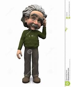 Karikatur Albert Einsteindenken Stockbilder Bild 24350104