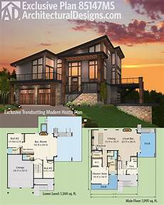 modern home design floor plans plan 85147ms exclusive trendsetting modern house plan in
