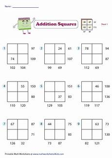 addition box worksheets 8793 addition squares