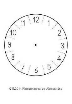 bastelvorlage uhr clock template uhrzeit lernen