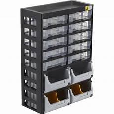 casier 224 vis plastique 10 tiroirs h 43 5 x l 30 3 x p