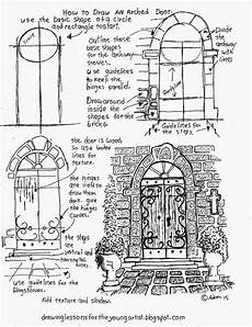 arch worksheets 19288 how to draw an arched door a free printable worksheet how to draw worksheets for artist