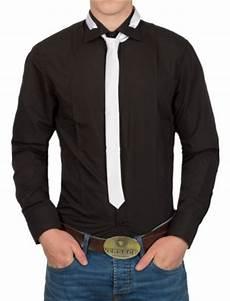 chemise homme cravate chemise homme noir avec cravate blanche pas cher 988 pour