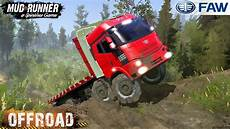 spintires mudrunner faw 8x8 in the deep sws youtube