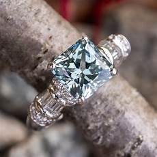 no heat montana sapphire engagement ring w diamonds