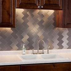 Kitchen Peel And Stick Backsplash 32 Pack Kitchen Backsplash Tile Peel And Stick Metal Tiles