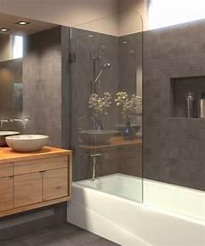 Duschabtrennung Badewanne Glas - bathtub shower screen tub door shower shield 5 16