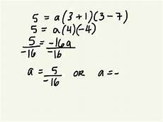 determine equation of parabola in factored form and standard form 3 5 gr 10 academic 10 22 13