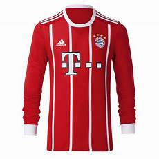 Fc Bayern Jersey Home Longsleeve 17 18 Official Fc