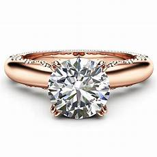 fashion forever love engagement ring princess cut zircon crystal ring jewelry rose gold color