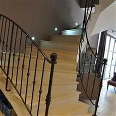 re escalier bois et fer forgé garde corps fer forg 233 bruni sur tremie escalier istres