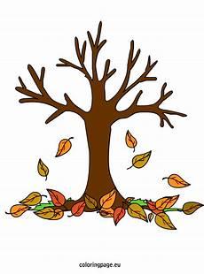 Ausmalbilder Herbst Baum Fall Tree Coloring Page