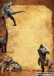 free jurassic park dinosaurs vintage invitation templates