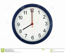 clock showing 8 o clock stock image image of measure