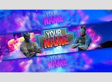 Fortnite: FREE Channel Art Template   Photoshop   YouTube
