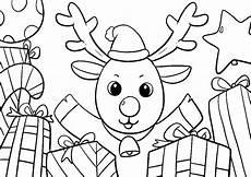 Weihnachts Ausmalbilder Einfach Malvorlagen Weihnachtsmann Mit Rentier