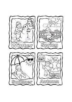 four seasons coloring worksheets 14776 title con immagini inglese