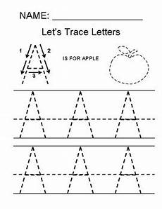 simple letter tracing worksheets 23931 tracing the letter a by math simple for all tpt