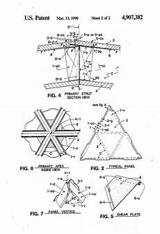 patent us4907382 geodesic dome panel assembly and method