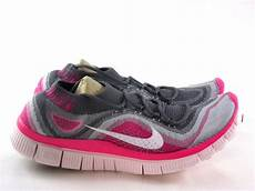 nike free flyknit 5 0 gray pink running s