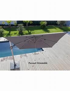parasol deporte orientable 360 parasol d 233 port 233 grey 3x3 m orientable et rotatif en