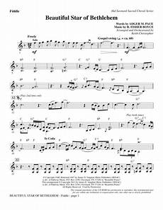 download beautiful star of bethlehem fiddle sheet music by r risher boyce sheet music plus
