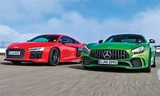 Audi R8 V10 Plus Mercedes Amg Gt R Test Autozeitung De