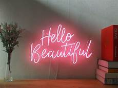new hello beautiful neon sign for bedroom wall home decor