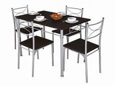 ensemble table 4 chaises sernan coloris gris weng 233