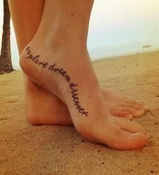 Tattoos Am Fuß Schriftzug - am fu 223 mit spruch und handschrift