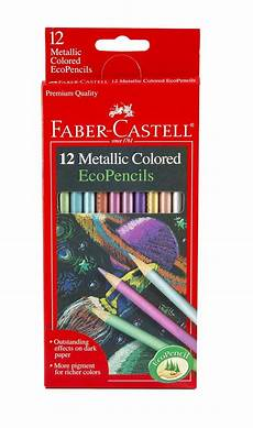 Malvorlagen Aquarell Stifte 12 Count Metallic Colored Eco Pencils By Faber Castell