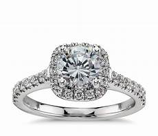 cushion halo diamond engagement ring in platinum 1 3 ct