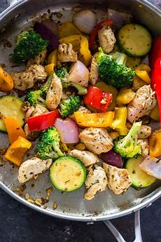 quick healthy 15 minute stir fry chicken and veggies