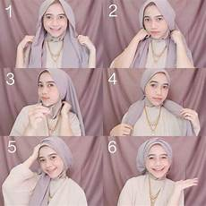 50 Tutorial Pesta Segi Empat Pashmina Elegan Simple