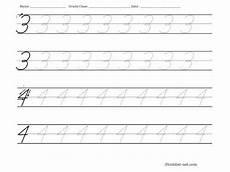 cursive writing numbers worksheets 21105 tracing worksheet cursive numbers 3 and 4