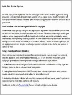 sle sales resume objective 6 exles in word pdf