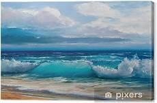 tableau sur toile peinture 224 l huile de la mer sur toile