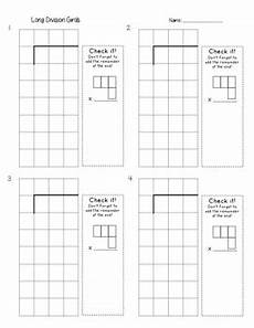 division worksheets on graph paper 6315 division grids by elizabeth vohland teachers pay teachers