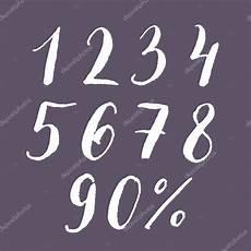 lettering zahlen lettering menge zahlen stockvektor 77268686