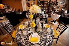 wedding recption yellow wedding reception white black yellow inspiration board table
