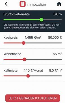 Immobilien Rendite Rechner Finanz App
