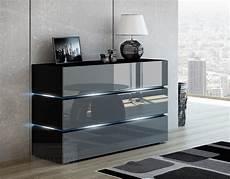 kommode schwarz hochglanz kaufexpert kommode shine sideboard 90 cm grau hochglanz