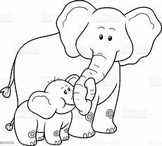 coloring book for children elephants stock illustration