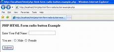 exles php html form radio button exle