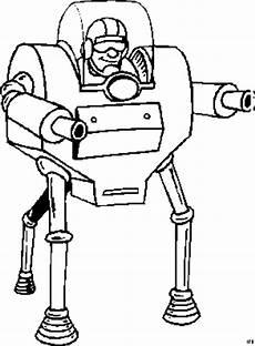 mann in roboter ausmalbild malvorlage science fiction