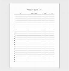 guest list template 22 for word excel pdf format