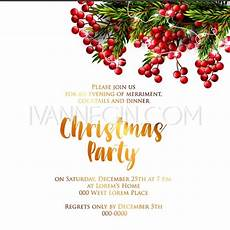 merry christmas party invitation and happy new year party invitation card unique vector