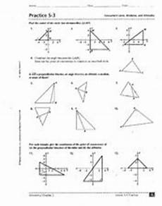 practice 5 3 concurrent lines medians and altitudes worksheet for 9th 11th grade lesson