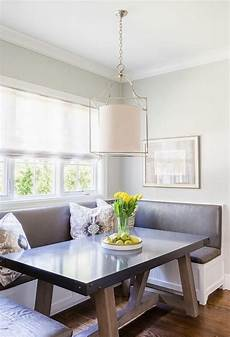 Beadboard Kitchen Banquette by Breakfast Nook Boasts A Built In U Shaped Banquette With